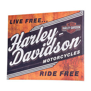 HARLEY-DAVIDSON® Live Free Ride Free Canvas Print