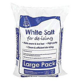 25kg Bags of White Grit Rock Salt