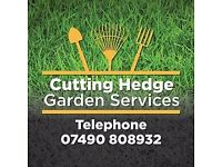 cutting Hedge garden services, uniformed staff, petrol tools all garden rubbish taken away