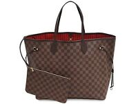 Louis Vuitton Neverfull Designer Women's Handbag Tote Damier Speedy Clutch Purse Wallet Bag Tote