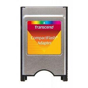 New Transcend CompactFlash PCMCIA Adapter-New in PKG