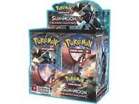 Pokemon sun and moon booster box burning shadows