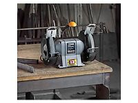 """200 MM ( 8"""" ) BENCH GRINDER, BRAND NEW BOXED WITH WARRANTY, H/DUTY 400W MOTOR"""