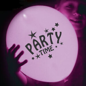 TWINKLING/PARTY TIME/HAPPY BIRTHDAY LIGHT UP BALLOON SALE!!
