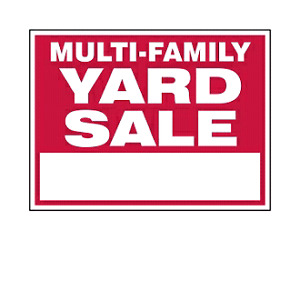 Multi-family yard sale Saturday July 22