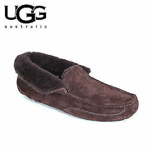 UGG Men's Suede Slippers Size 10 - Brown Color