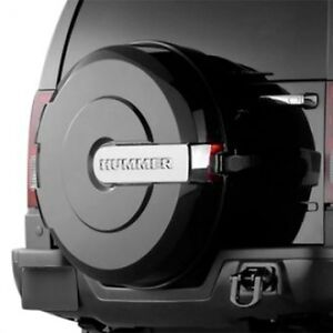 Hummer H3 black hard spare tire cover