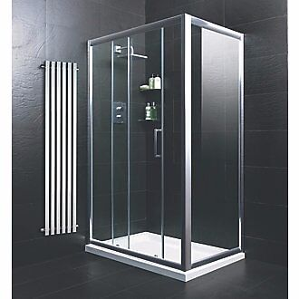 Shower enclosure 1200 x 900 sliding door side panel for Sliding glass doors gumtree