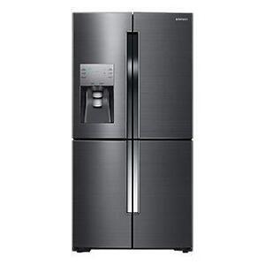 95-  NEUF - NEW Réfrigérateur  Noir STAINLESS Black Fridge NEUF - NEW