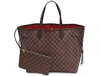 Louis Vuitton Clutch Purse Wallet Bag Neverfull Speedy Designer Women's Handbag Damier