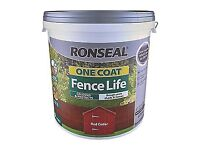 Ronseal one Coat Fence Life colours and protects