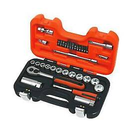 """Bahco S330 34 Piece 1/4"""" And 3/8"""" Drive Socket Set"""