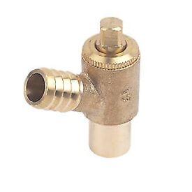 Plumbing: Brass Drain Cock 15mm