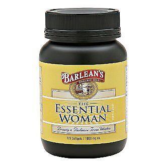 NEW Barleans Organic Oils Essential Woman 120 Count Bottle FREE SHIPPING Barleans Essential Woman Oil