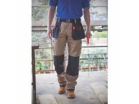 "SITE HOLSTER TROUSERS STONE/BLACK 38"" W 32"" L"