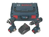 BOSCH CORDLESS COMBI DRILL & IMPACT DRIVER TWIN PACK