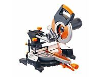 Evolution RAGE3 255mm Multipurpose Sliding Mitre Saw 230v + Compete Stand With Extensions! Bargain!!