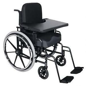 food try  Wheelchairs with extended armrests may be difficult to pull up to a table or desk. This can be inconven