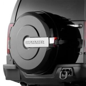 Hummer H3 black spare tire cover