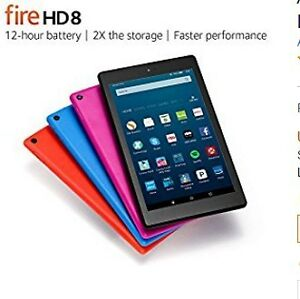 "New Fire HD 8 Tablet, 8"" HD Display, Wi-Fi, 16 GB"