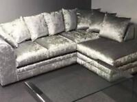 Julie crushed velvet corner sofa