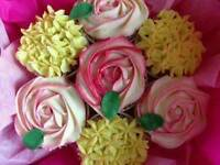 Mothers day cupcake bouquet, cupcake boards and boxed cupcakes