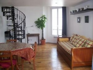 PARIS WONDERFUL DUPLEX QUIET&SUNNY 2BRS + DBLE LR 2MN M.