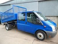 Ford Transit 350 115TDCi Crew Cab cage tipper 2009 09 reg