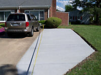 CONRETE SLABS / PADS, DRIVEWAY EXTENSION, AND BACKYARD SLABS.