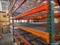 WAREHOUSE PALLET RACKING 20 (9FT UPRIGHTS) 30 4 METRE CROSS SECTIONS INCLUDING SHELVING