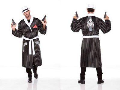 Halloween Wholesalers Stripped Robe (Black & - Halloween Wholesalers