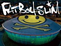 2 x fatboy slim standing tickets