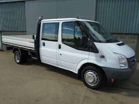 Ford Transit 350 2.4TDCi 115hp crew cab one stop drop side pick up 2010 10 reg