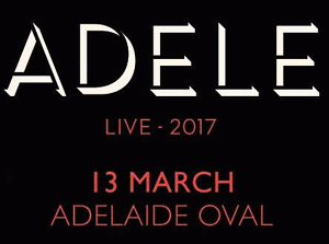 FRONT ROW Adele - Row A - S14 - Adelaide - 2 Tickets Adelaide CBD Adelaide City Preview