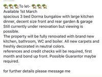 3 bed Dorma bungalow Huntington