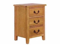 Heart Of House Cheshire 3 Drawer Bedside Chest