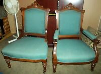 Antique His & Hers Chairs