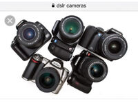 WANTED DSLR CAMERAS AND PARTS IN WORKING AND FAULTY CONDITION