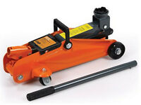 Car Jack - 2t Red Trolley Hydraulic jack on wheels