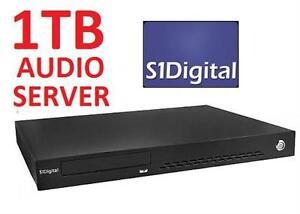 NEW S1 DIGITAL 1TB AUDIO SERVER COMPUTER ELECTRONICS -THREE ZONE MEDIA SERVER   82588744