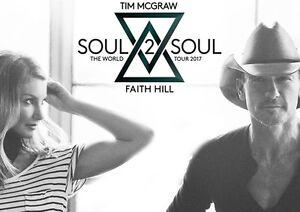 FLOOR SEATS - Tim McGraw&Faith Hill : Soul2Soul tour