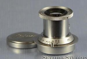 Leica 50mm Elmar F3.5 Red Scale Chrome Collapsible SM Lens