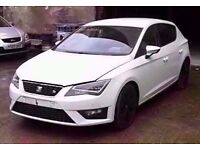 2014 64 PLATE WHITE MK3 SEAT LEON FR 2.0 CR TDI BREAKING FOR PARTS **** FRONT END SOLD!!! ****