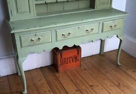 Antique hand painted vintage kitchen dresser