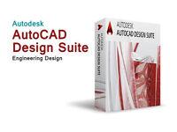 AutoCAD 2018/2017 With KEY for PC & MAC, Autodesk Maya, Autodesk Revit, VectorWorks
