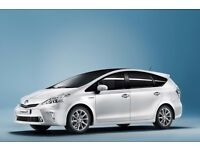 RENT HIRE, NEW, TOYOTA PRIUS PLUS 7 SEATER HYBRID PCO CARS. READY UBER! BEST PRICES & BEST SERVICE