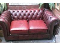 Chesterfield sofa vintage shabby chic