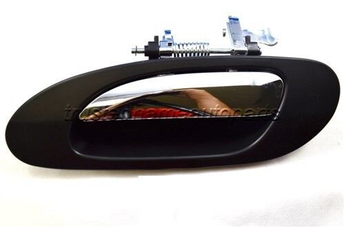 Outer Exterior Outside Door Handle Textured Black Chrome Lever Driver Side Front