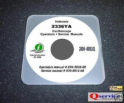 Tektronix Tek 2336ya Operating Service Manual With Complete Diagrams Cd