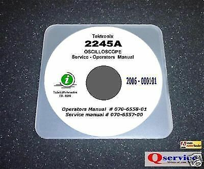 Tektronix Tek 2245a Service Ops Manual Cd With Complete A3 Diagrams